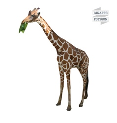 Giraffe polygon vector