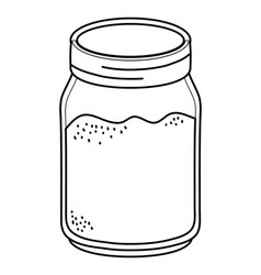 Glass mason jar cartoon vector