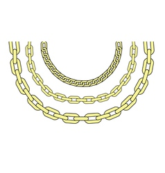 Gold chains vector