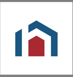 h home logo vector image