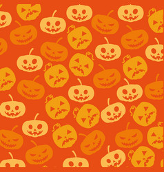 Halloween card with pumpkin pattern background vector