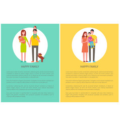 happy family spend time together couple and child vector image