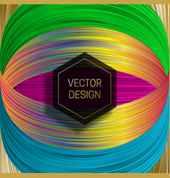 Hexagonal frame on saturated colorful background vector