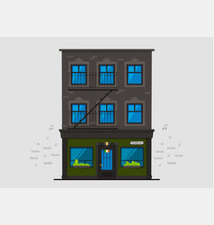 Irish pub building vector
