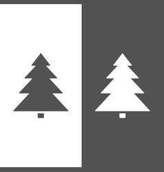 isolated christmas tree icon on black and white vector image