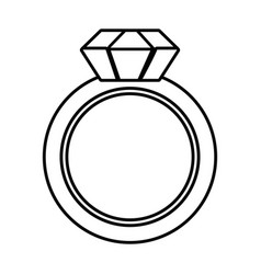 Isolated ring design vector