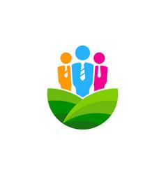 job farm logo icon design vector image