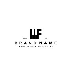 Letter f piano logo design vector