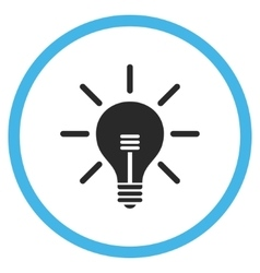 Light Bulb Flat Rounded Icon vector image