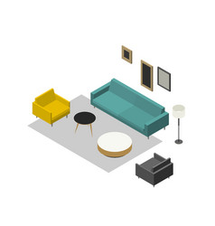 lounge zone furniture vector image