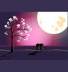 Love is romantic landscape vector