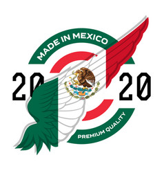 made in the mexico badge label or stickers with vector image