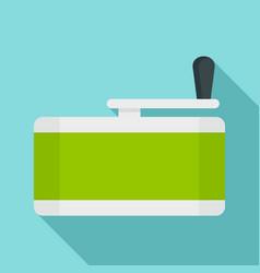 Marijuana grinder icon flat style vector