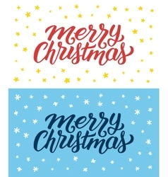 Merry Christmas retro flat style greeting cards vector image vector image
