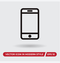 mobile icon in modern style for web site and vector image