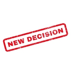New Decision Rubber Stamp vector image