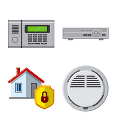 Office and house icon vector