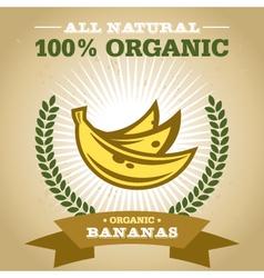 Organic Banana vector image