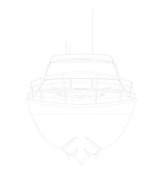 outline sports boat front view vector image