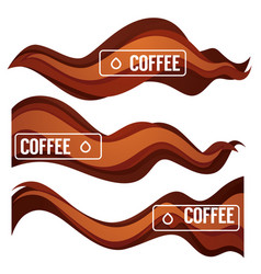 paper cut coffee flow design element for your vector image