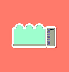 Paper sticker on stylish background wave height vector