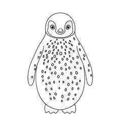 Penguinanimals single icon in outline style vector