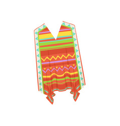 Poncho traditional mexican clothes vector