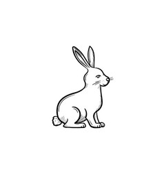 rabbit hand drawn sketch icon vector image