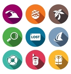 Set of Emergency Service Icons Tsunami vector image