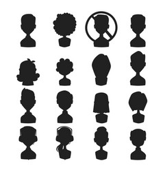 Set of people portrait face icons web avatars vector