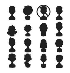 Set of people portrait face icons web avatars vector