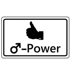 Sign thumbs up for men power vector
