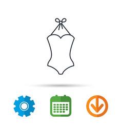 swimsuit icon women swimwear sign vector image