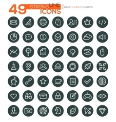 Thin Line Icons For Business Interface Leisure vector image