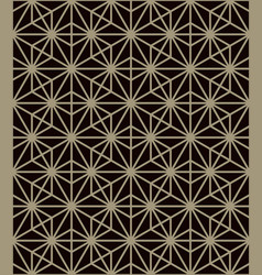 traditional japanese pattern geometric background vector image