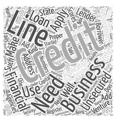 Unsecured Business Line of Credit Word Cloud vector