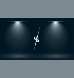 Versus vs screen with two focus light effect vector