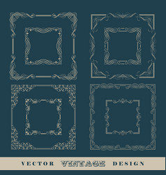 vintage frame border vector image