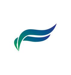 wave ornament business logo vector image