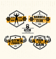 Workout gym sport and fitness motivation vector