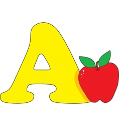 a is for apple vector image