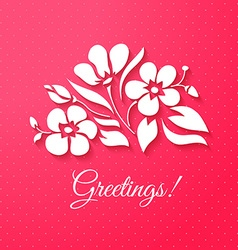 Applique card or background with flowers vector image vector image