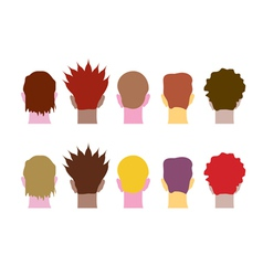 set of heads vector image