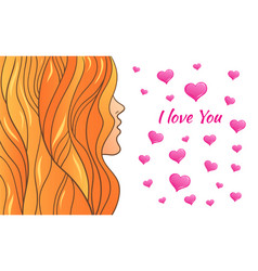 greeting card valentine s day vector image vector image