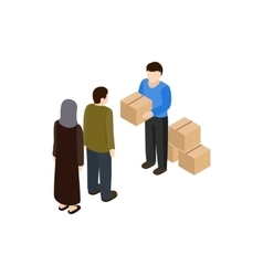 Humanitarian assistance icon isometric 3d style vector image