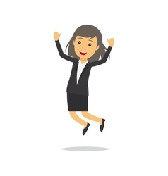Jumping businesswoman character vector image vector image