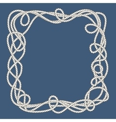 Tangled nautical ropes frame vector image vector image