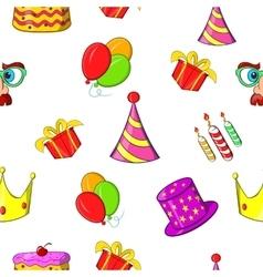 Birthday party pattern cartoon style vector image