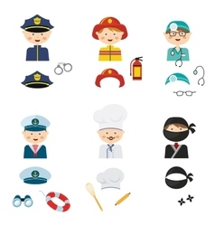 cute cartoon set of costumed kids with different vector image