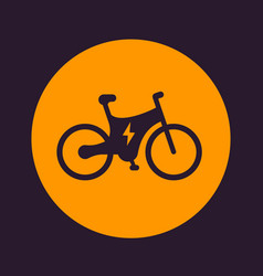 Electric bike icon ecologic transport vector